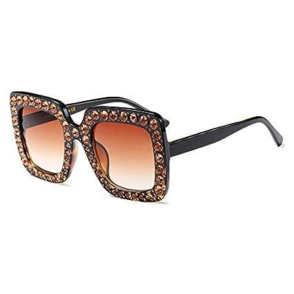 Burenqi@ Plaza Diamante Mujeres Gafas de Sol de Marca Gafas ...