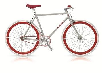 Bicicleta de montaña para hombre de piñón fijo con ruedas de colores de 71 cm , Hombre, roja: Amazon.es: Deportes y aire libre