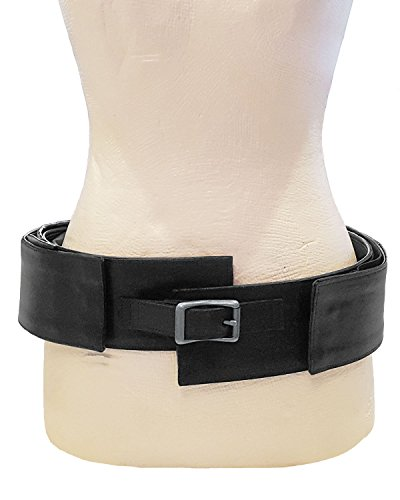 Leather Purse Belt with Hidden Storage Pockets, Accessories, Cell Phone Holder, and Trendy Front (Black) by MP Bastian