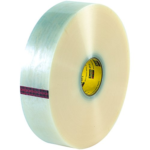 BOX BT903371 3M 371 Carton Sealing Tape, 2'' x 1000 yd., Clear (Pack of 6) by Box