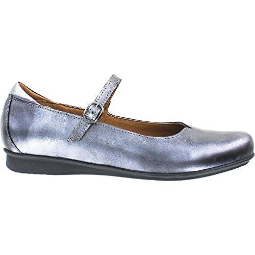 Taos Footwear Women's Class Mary Jane,Pewter Metallic Full Grain Leather,EU 38 M (Leather Pewter Footwear)