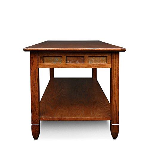 Ixia Rustic Oak and Slate Tile Coffee Table Table Coffee Tile Mid Century Modern Top Danish Svitlife