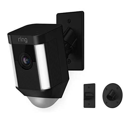 (Ring Spotlight Cam Mount HD Security Camera, Black )