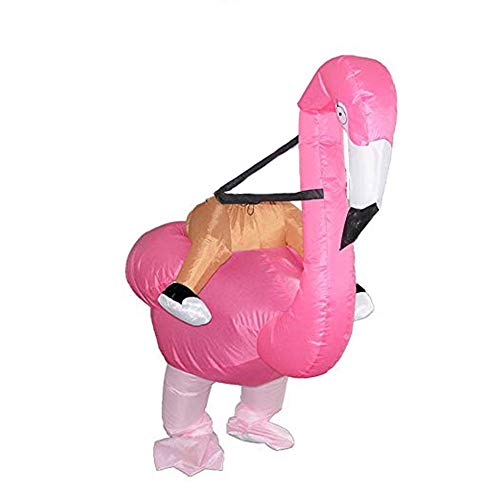 BlueSpace Inflatable Costumes Halloween Flamingo Cosplay Costume Blow Up Costumes Gaint Ride On Body Suit for Adults and -