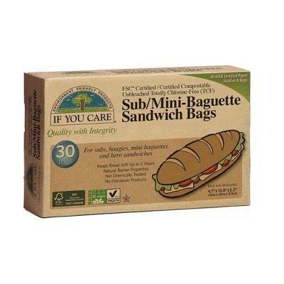 Bolsas de papel ecológicas para bocadillo: Amazon.es: Hogar