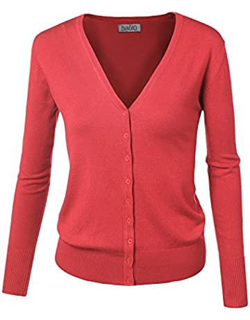 be1b8ba33bb2 BIADANI Women Button Down Long Sleeve Basic Soft Knit Cardigan Sweater
