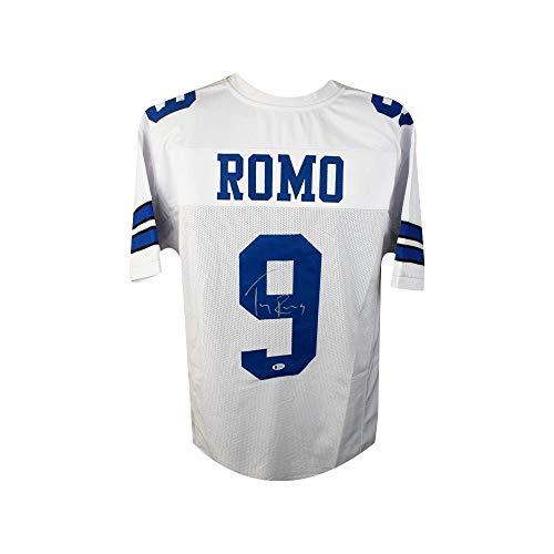 Tony Romo Autographed Dallas Cowboys Custom Football Jersey - BAS COA