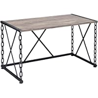 ACME Furniture 92248 Jodie Desk, Rustic Oak & Antique Black
