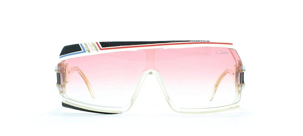 0b21264b7b83 Cazal 858 Dlx 252 Clear Black Red Blue Rectangular Certified Vintage  Sunglasses For Mens and Womens  Amazon.co.uk  Clothing
