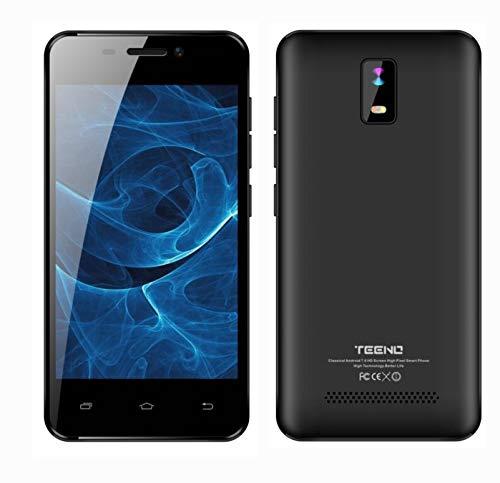 TEENO Telefono Movil Libre 4.0 Pulgadas 1GB RAM 8GB ROM 4G HD IPS 2*Micro SIM & 1 SD Card Dual Cámara Negro