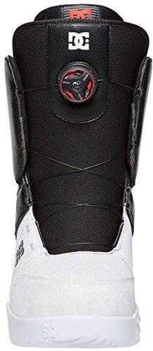 DC Men's Scout Boa Snowboard Boots, Black/White, 12