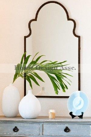 (Gorgeous Extra Large Unusual SHAPED ARCH Wall Mirror Curved Mantle Vanity Luxury)