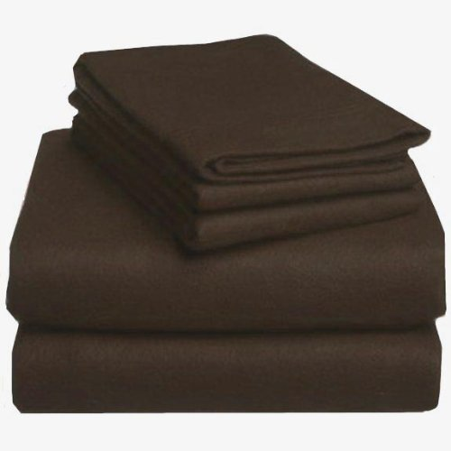 6 Ounce Flannel (MARRIKAS HEAVYWEIGHT 6 OZ. or 200 GSM FLANNEL SHEET SET TWIN EXTRA LONG CHOCOLATE)