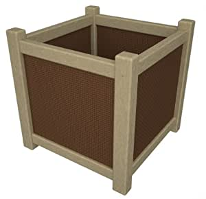 """Vineyard 16"""" Planter - Amber Panel Frame Color: Sand"""