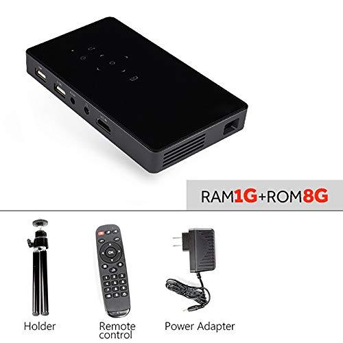 YHML Praktische Mini Projector D5S, Android 7.1 (2G + 32G) WiFi, Batterie 5000 Mah, Beweglicher LED Projektor Für Video…