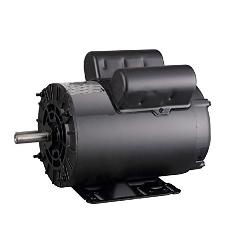 5 HP SPL 3450 RPM 60 Hz Air Compressor Electric Motor 208-230 Volts 56 Frame B385 by Hexautoparts