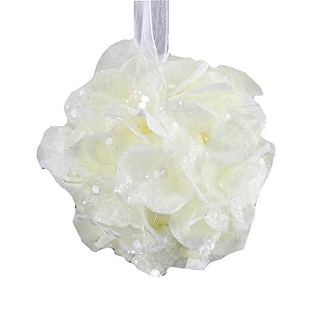 4 White Shinoda Design Center 0031300477 Hydrangea Hanging Ball