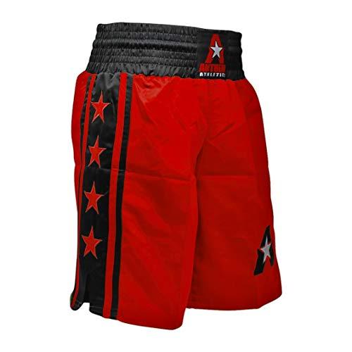 (Anthem Athletics Classic Boxing Trunks Shorts - Red & Black - Medium)