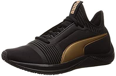 PUMA Women's Amp Xt WN's Blk-blk Shoes, Puma Black-puma Black, 5.5 US