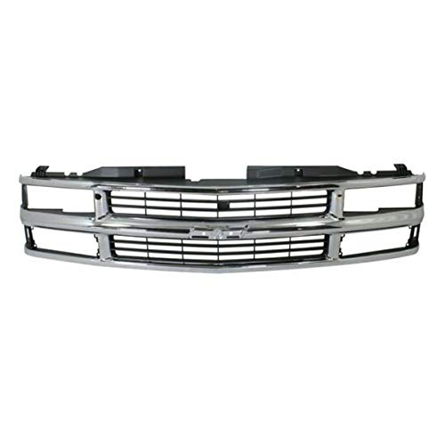 Koolzap For Chevy C/K Pickup Truck Fullsize Grill Grille Assembly Chrome GM1200238 15981106