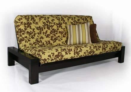 (Strata Furniture Rockwell Black Walnut Full Wall Hugger Futon Frame (KD))