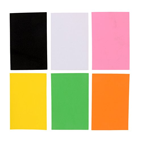 (SM SunniMix 6pcs Fly Tying Foam Sheet, Floating Dry Fly Grass Hopper Popper Fly Tying Materials 2mm Thickness 7.5cm x 11.5cm)