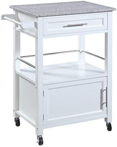 White Linon Storage Cart On Wheels