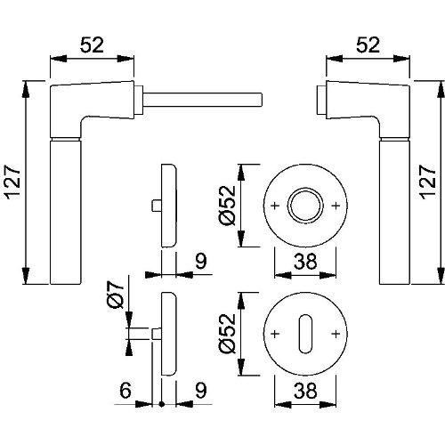 Garnitur RosetteM1955//17KV//17KVSGRT F45 8 OB 37-42