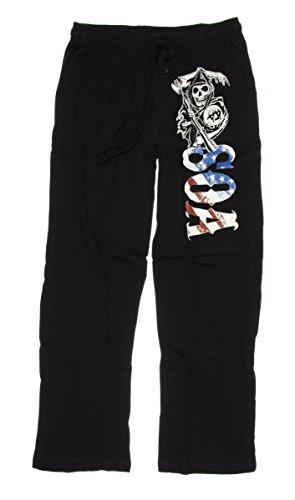 Sons of Anarchy Pajama Pants Black Small