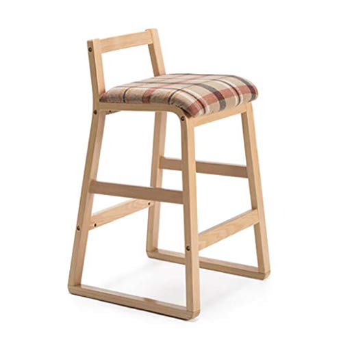 (FLHAINVER Jane domain bar Chair Solid Wood high Stool Retro bar Chair bar Stool bar Chair Creative Fashion bar Stool high Stool (Color : B, Size : M))