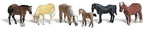 Accents Figures Scenic (Woodland Scenics HO Scale Scenic Accents Figures/Animal Set Farm Horses (6) by Woodland Scenics)