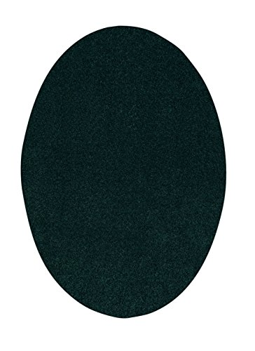 Bright House Solid Color Oval Shape Forest Green 3'X5' Oval Shape - Area Rug - Forest Square Rug