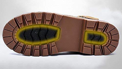 HhGold Herrenmode Flache Stiefel Casual Desert Stiefel Winter Baumwolle Futter Futter Futter wasserdicht, 40 (Farbe   -, Größe   -)  272913