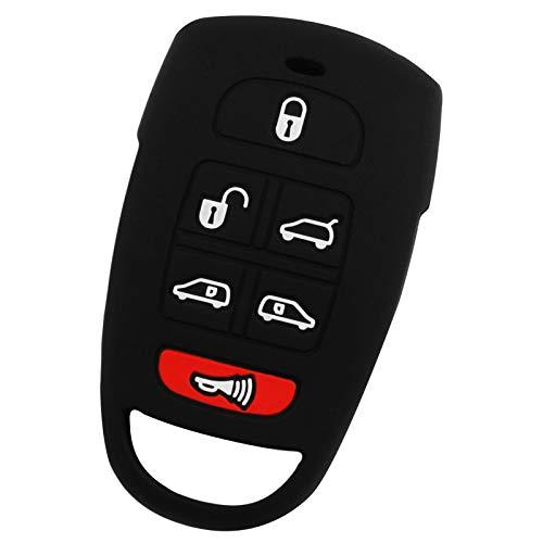 For 06-14 Kia Sedona 07-09 Hyundai Entourage Rubber Keyless Entry Remote Key Fob Skin Cover 6btn