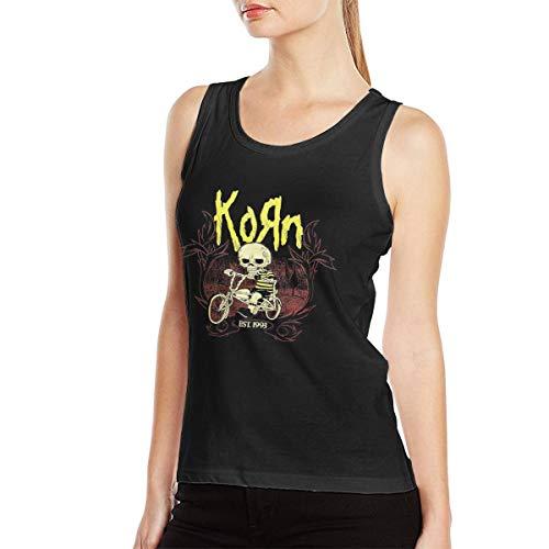 Doroty R Trumbauer Korn Women Blouse Round Neck Sleeveless Ladies Waistcoat Tank Tops for Women Black]()