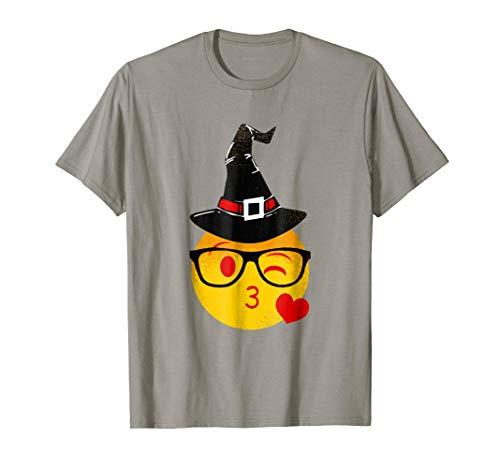 Nerd Emoji Witch Hat Halloween T-Shirt | Original Distressed