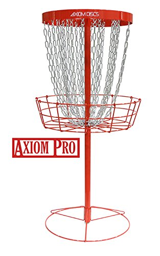 Axiom Discs Pro 24-Chain Disc Golf Basket - Red by Axiom Discs