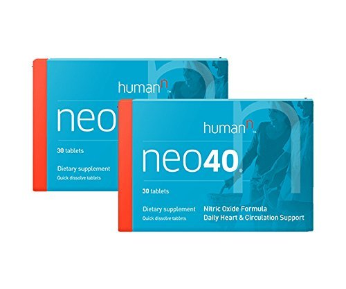 Neo40, Daily Heart and Circulation Support,Nitric Oxide Formula, Dietary Supplement, Quick Dissolve Tablets (2)