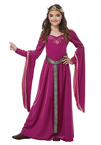 Girls Medieval Princess Costumes (Medieval Berry Princess Kids Costume,Pink / Purple, X-Large (12-14))