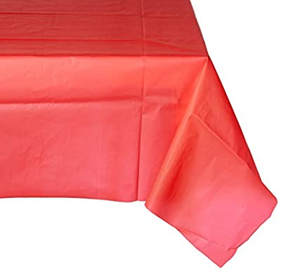 """CREATIVE CONVERTING 11031 54"""" x 108"""" Covers An 8' Banquet Plastic Table Cover, Classic Red by CREATIVE CONVERTING"""