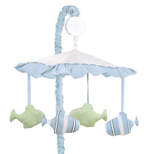 Go Fish Ocean Fishing Baby Musical Crib Mobile by Sweet Jojo Designs