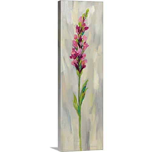 "Single Stem Flower IV Canvas Wall Art Print, 12""x36""x1.25"""