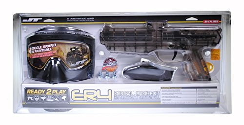 JT ER4 RTP .68Cal Paintball Kit Includes Guardian Goggle, 15G Co2 Jetts, Small Loader, (Kit Paintball Gun Parts)
