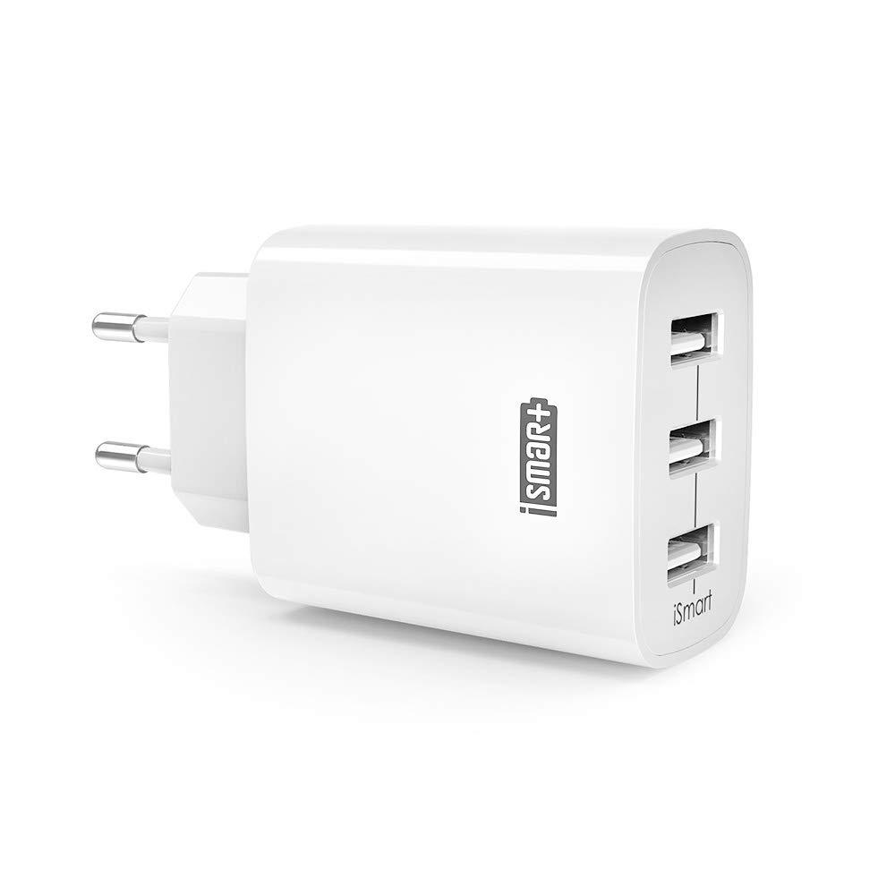 USB Ladegerät RAVPower 3-Port 30W 6A Ladeadapter mit iSmart Technologie für iPhone X XS XR XS Max 8 7 6 Plus, iPad Pro Air Mini, Galaxy S9 S8 Plus, LG, Huawei, HTC, Powerbank, externer Akku, MP3 usw. weiß product image