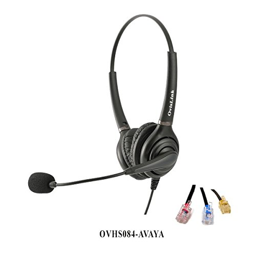 Ovislink Corded Dual Ear Call Center Headset Compatible w...