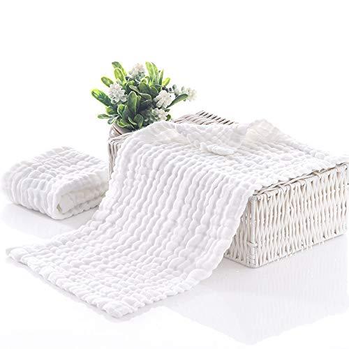 4 Piece Set Muslin Baby WASH Cloths - 100% Organic Natural Cotton Baby Cloths, Sensitive Skin, Premium Extra Soft Newborn BabyTowels in a Gift Box