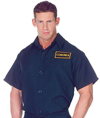 Underwraps Men's Plus-Size Coroner Shirt, Black,
