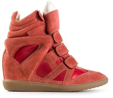 9c6eb1187b Isabel Marant Etoile - Burt Sneakers Red - 37: Amazon.co.uk: Clothing
