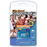 Transcend TS512MCF80 512MB 80x Type I Compact Flash Card