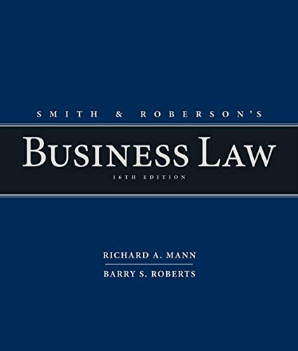 Pdf Law Smith and Roberson's Business Law
